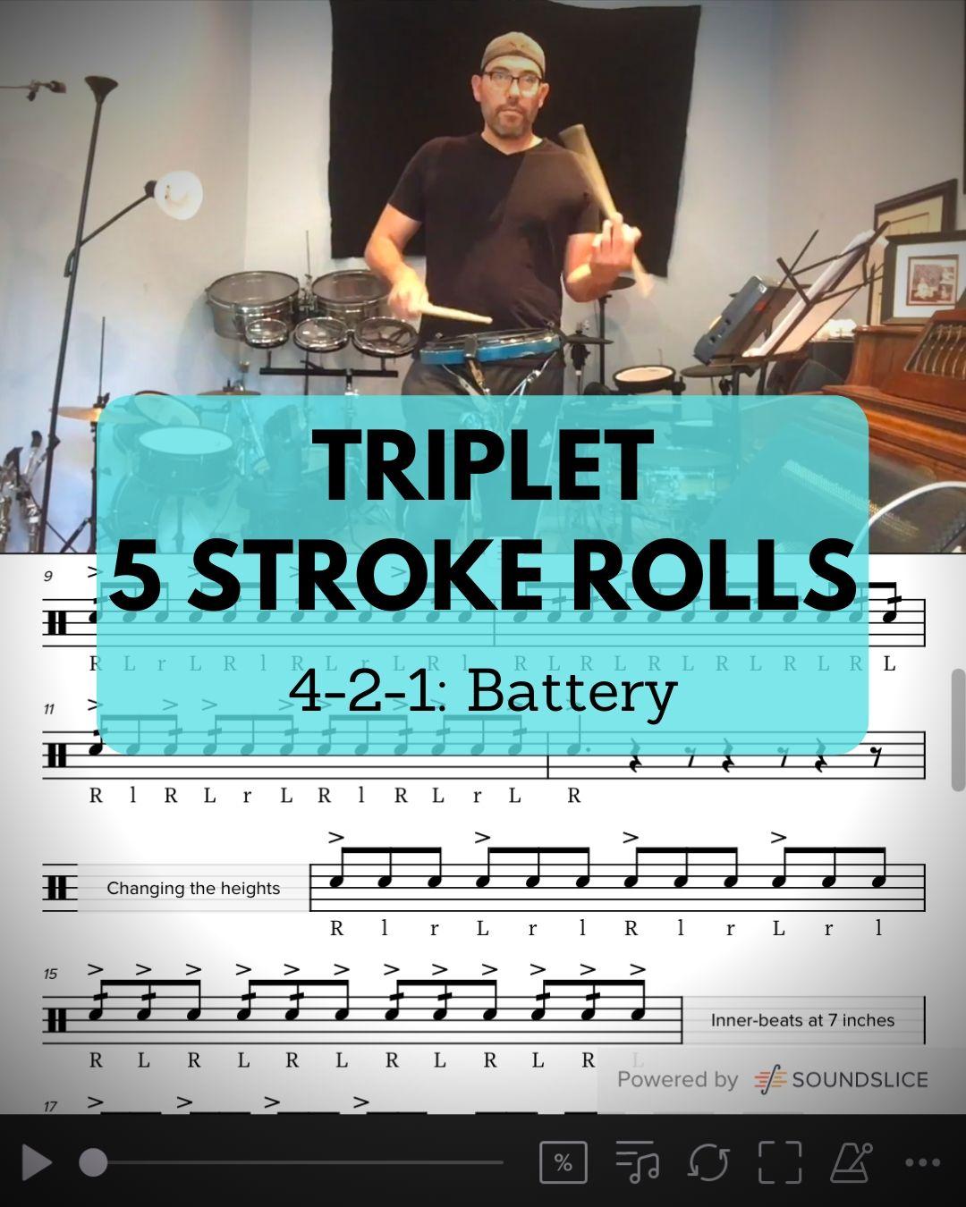 Triplet 5 stroke rolls