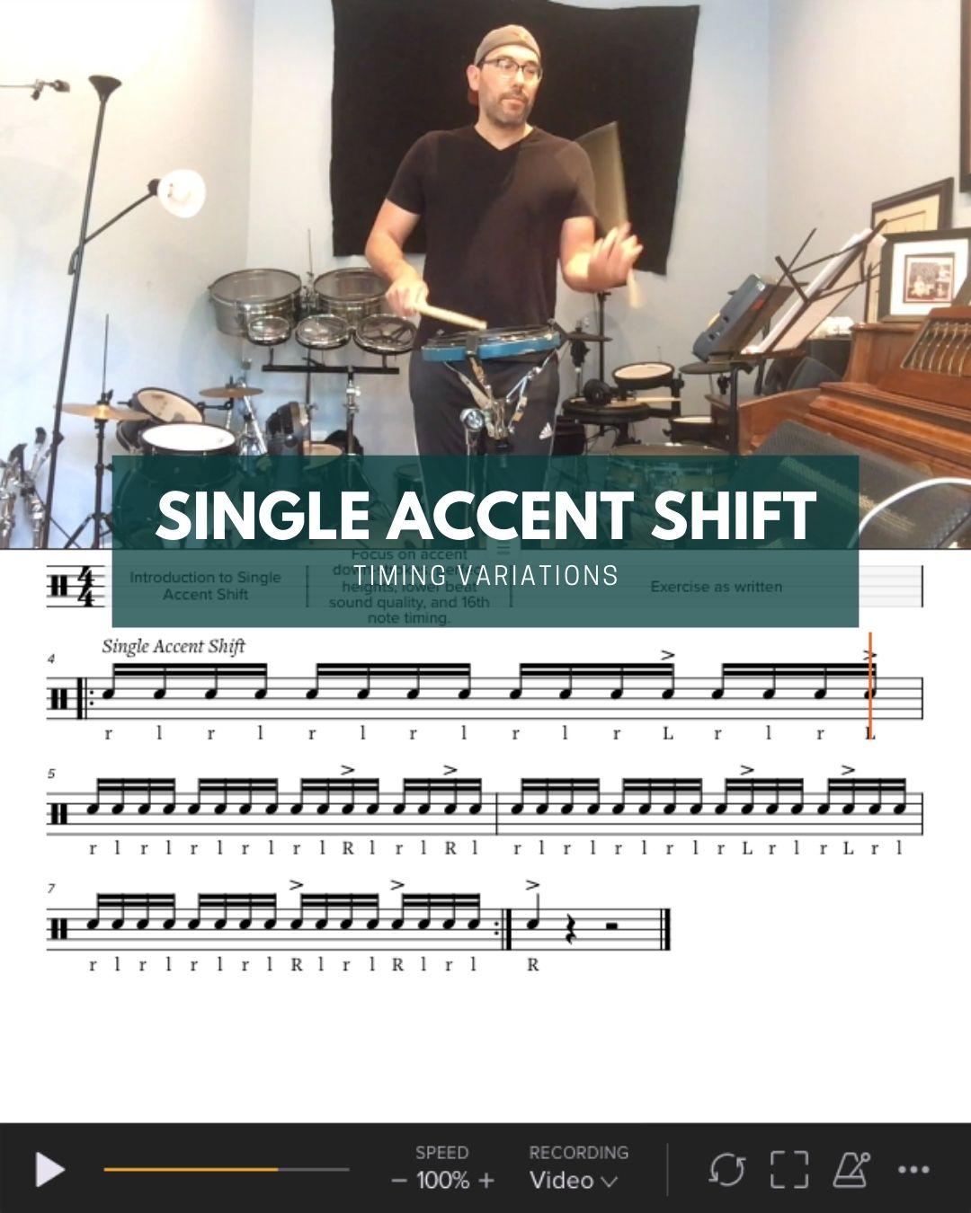 Single Accent Shift