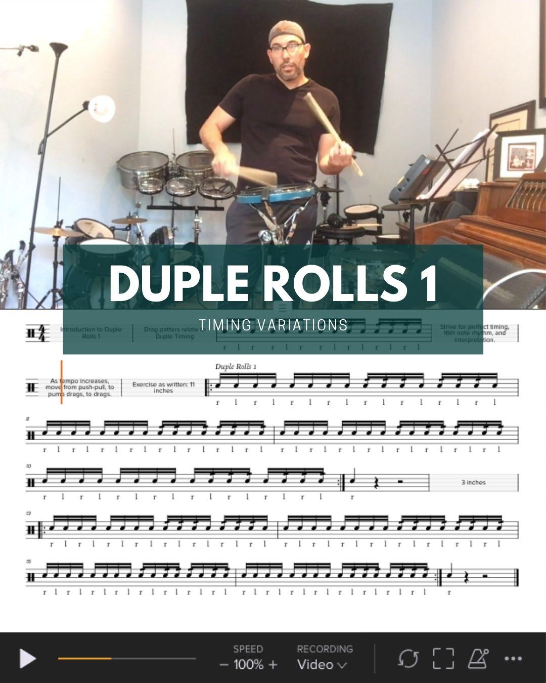 Duple Rolls 1