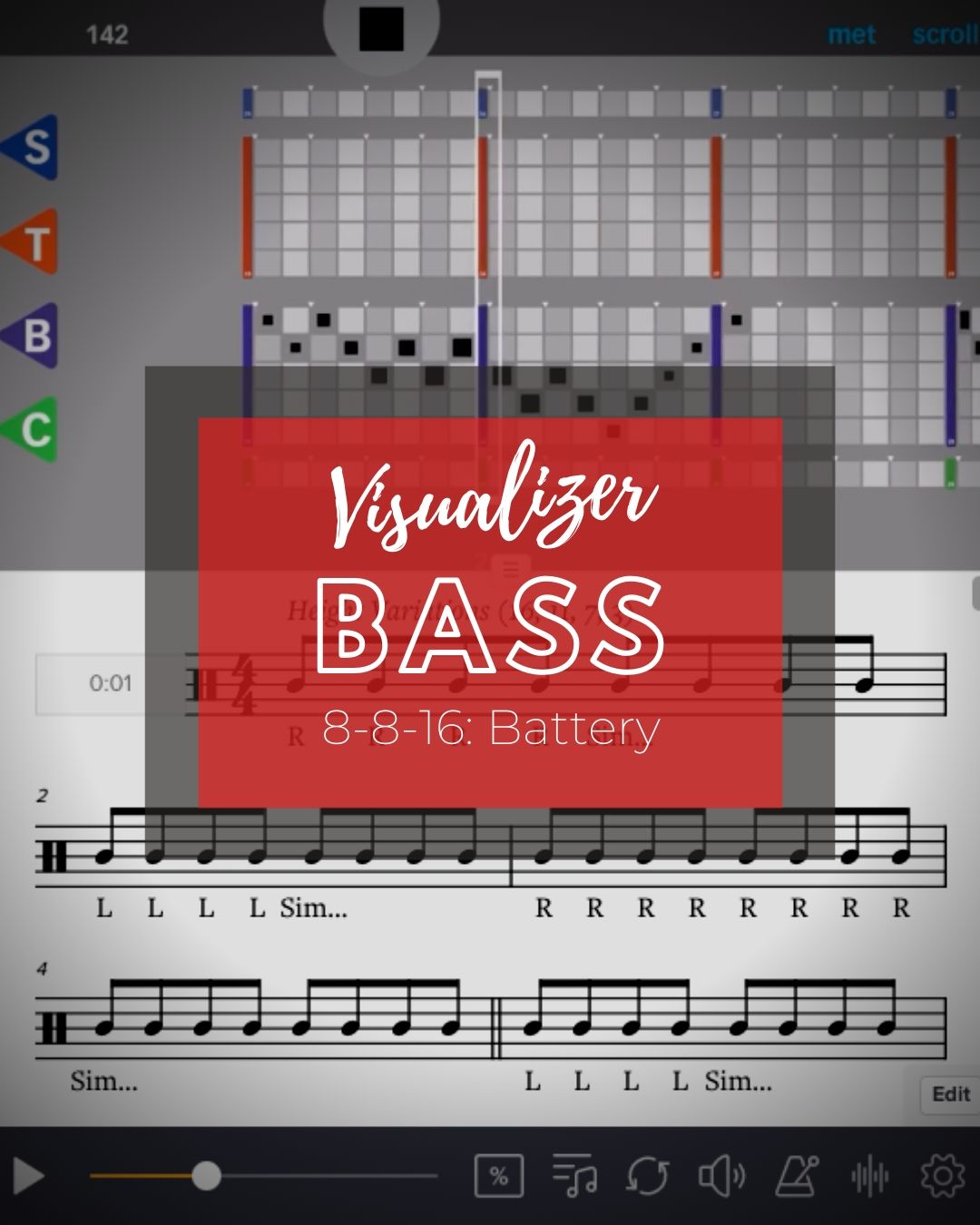8-8-16 Bass Visualizer