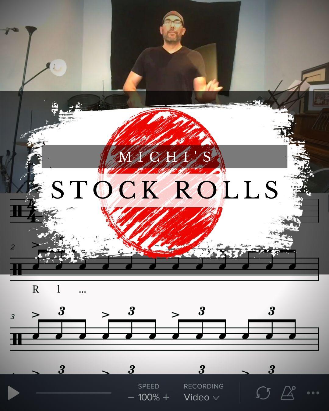 Michi's Drumline PA Stock: Rolls