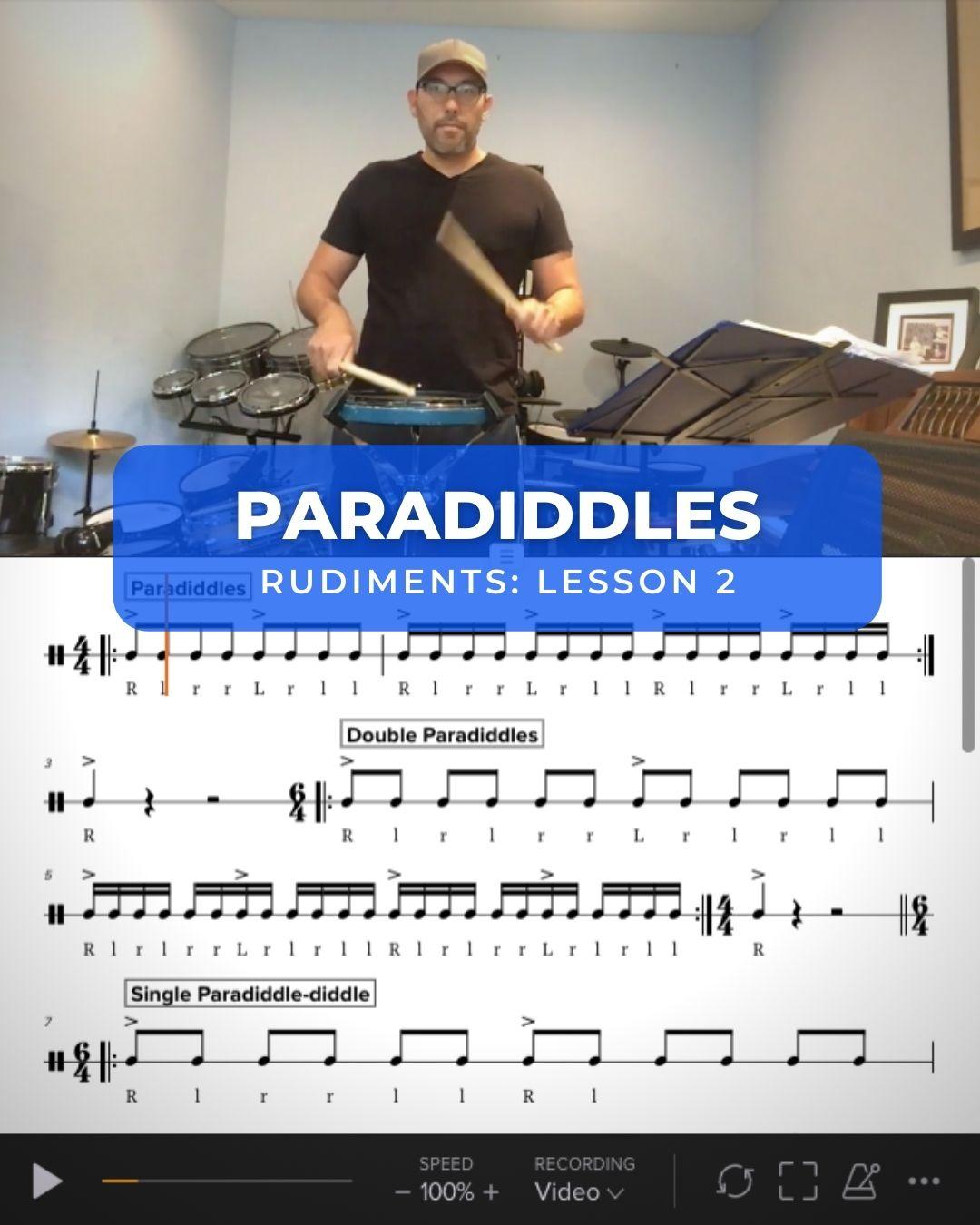 Paradiddles, Double Paradiddles, Paradiddle-diddles, Triple Paradiddles and Paradiddle Variation