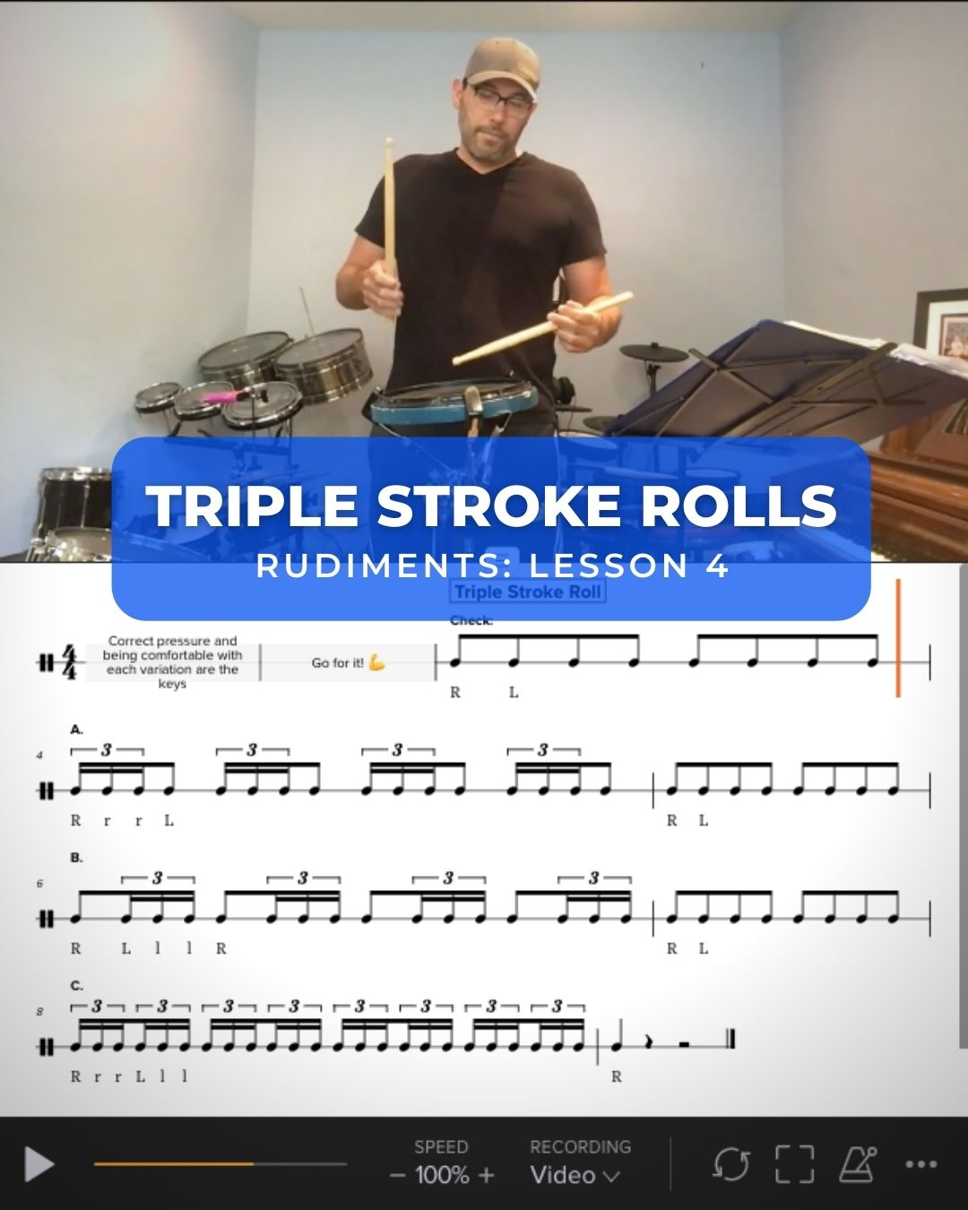 Triplet Stroke Rolls