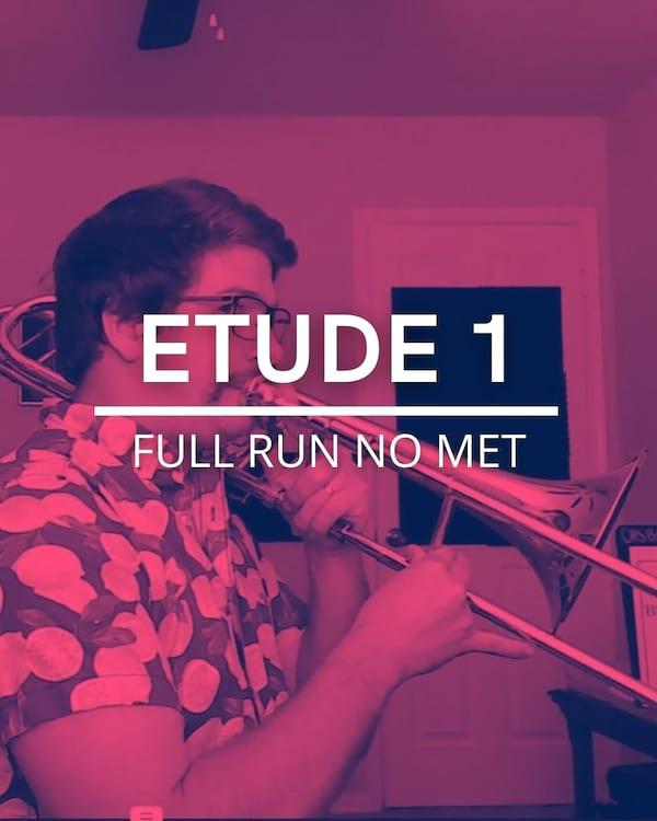 Etude 1 Full Run no met