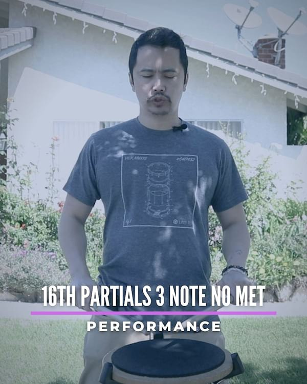 16th Partials 3 Note No Met