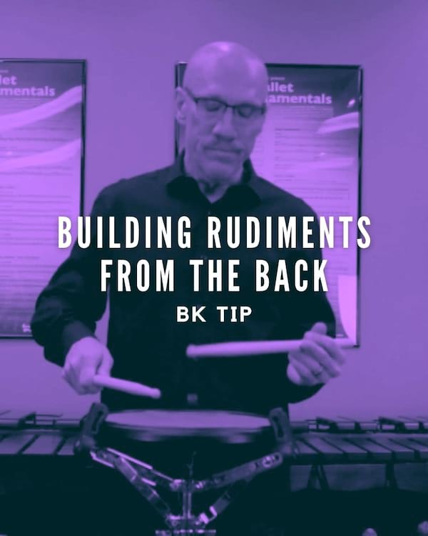 Building Rudiments from the Back