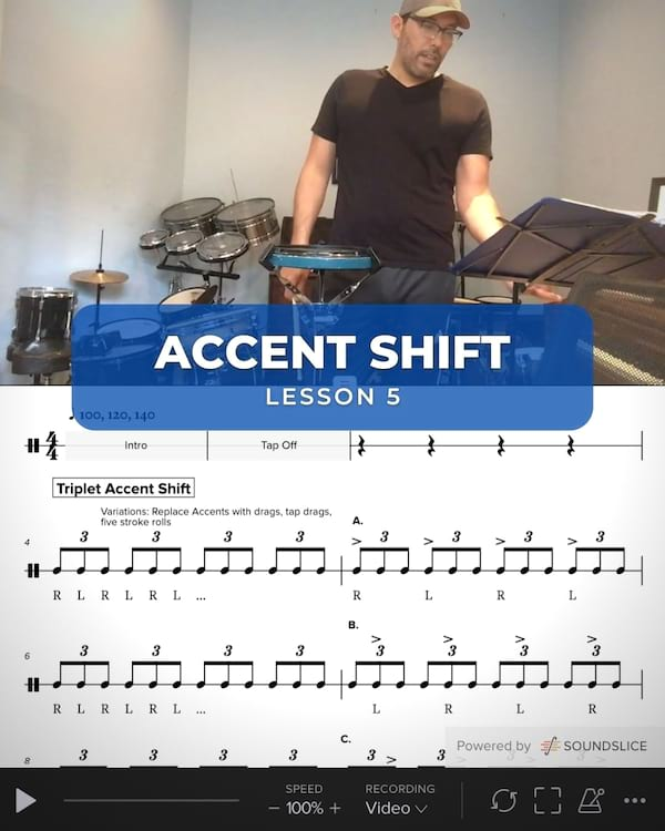 Triplet Accent Shift