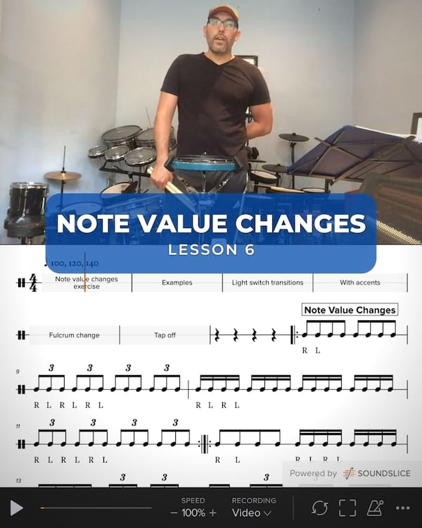 Note Value Changes