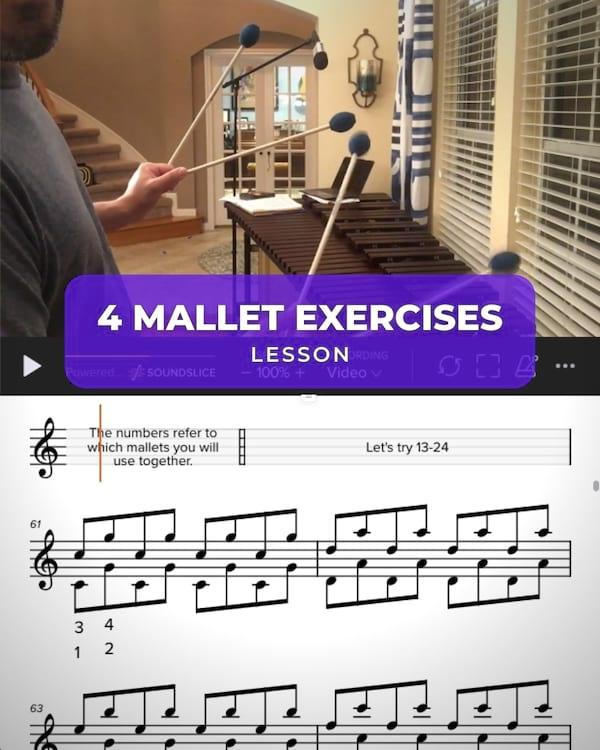 4 Mallet Exercises