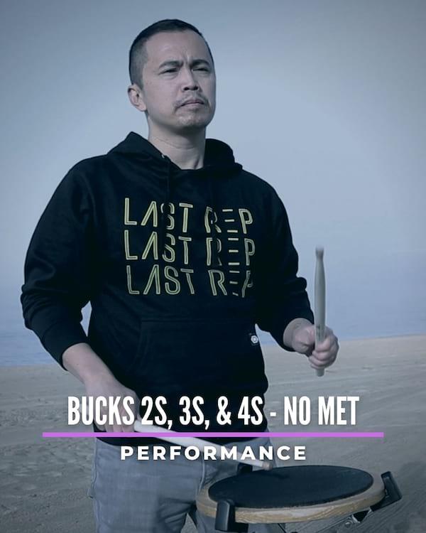 Bucks 2s, 3s & 4s No Met