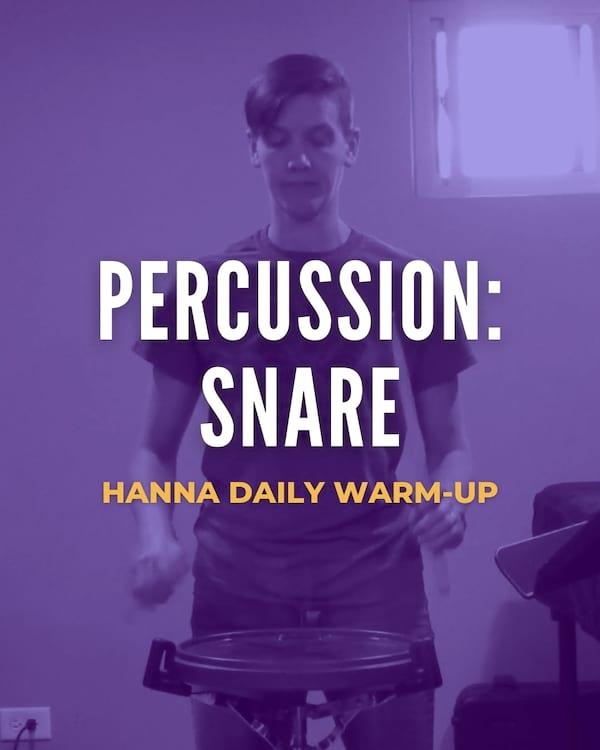 Percussion: Snare