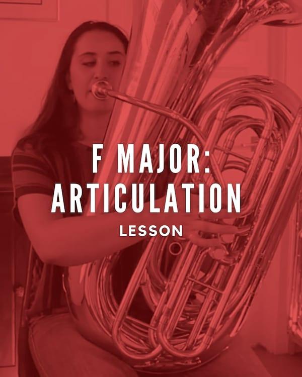 F Major: Articulation